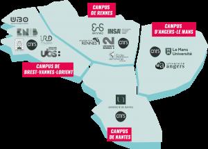 Les 4 campus d'innovation