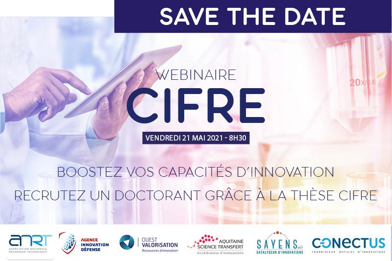 Webinaire Cifre ANRT Conectus Aquitaine Science Transfert Sayens Ouest Valorisation